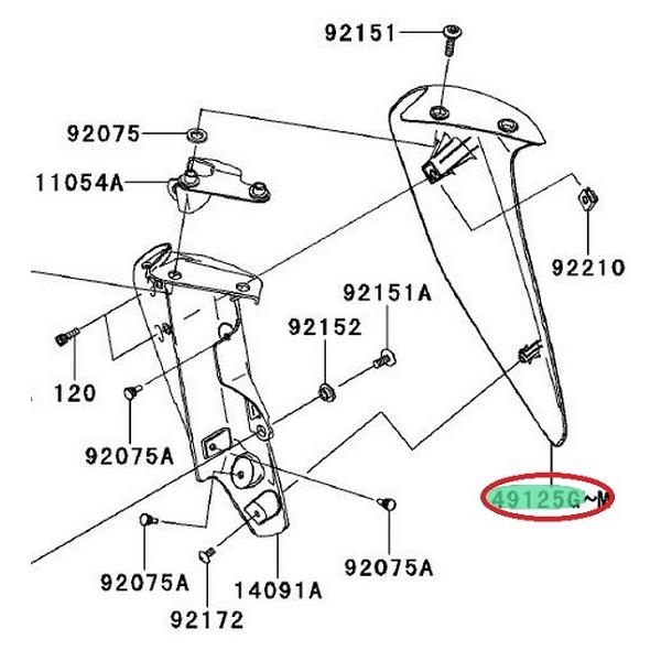 protector radiador derecho kawasaki z 750